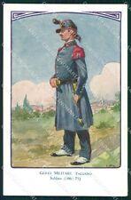 Militari Genio Italiano Soldato Uniforme Besi cartolina XF0320