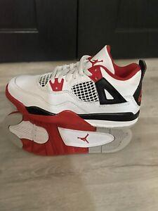 Nike Air Jordan 4 Retro Fire Red (2020) PS Size 1Y White Red Grey BQ7669-160