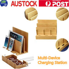Bamboo Charging Dock Station Charger Holder Stand for Pad Smartphone iPhone AU