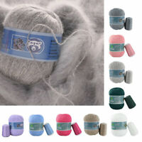 50g+20g Soft Mink Velvet Wool Yarn Hand Knitting Scarf Yarn Plush Crochet DIY
