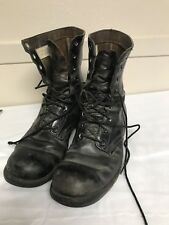 "Vintage 1960's Veit Nam Bf Goodrich Leather Militay Boots Sz 10 10 1/2"""