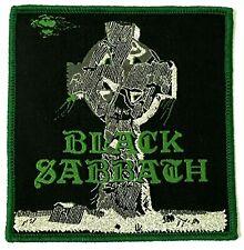 BLACK SABBATH - Headless Cross - Square Woven Patch Rare Green Edging Aufnäher