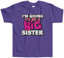 Threadrock Kids I'm Going To Be A Big Sister Toddler T-shirt Announcment