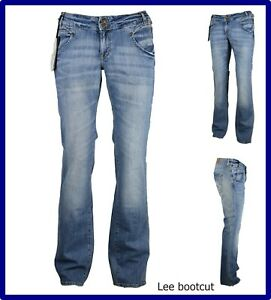Lee jeans pantaloni a zampa da donna elasticizzati vita bassa bootcut w31 44 46