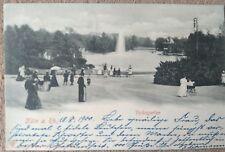 Köln Volksgarten Ansichtskarte aus dem Jahr 1900! Gelaufen nach Genf