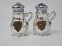 Vintage Chrome Brass Chicago Wrigley Building Tribune Tower Salt Pepper Shakers