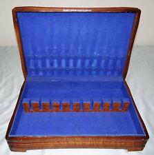 New listing Holmes & Edwards Inlaid Silverware Flatware Chest Wood Storage Box Anti-Tarnish
