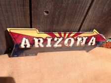 "Arizona State Flag This Way Arrow Sign Directional Novelty Metal 17"" x 5"""