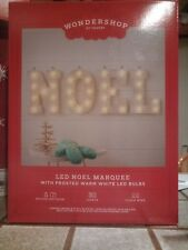 Wondershop LED NOEL MARQUEE 30 LED Frost Lights Christmas Indoor Outdoor Sign NW