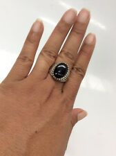 Southwestern Carolyn Pollack sterling 925 Black Onyx ring size 9