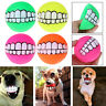 Pet Dog Puppy Teeth Chew Toy Chewing Ball Squeaker Squeaky Sound Tooth Training