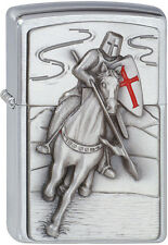 Zippo KNIGHT CRUSADER ATTACK EMBLEM Pocket Lighter Wind proof New With Box