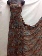 Designer Multicolour  Chiffon Paisley  Print Fabric wedding light