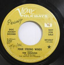 Hear! Pop 60S Promo 45 The Cousins - Four Strong / Rich Mans Spiritual On Verve