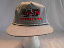 Vintage General Fire Truck Baseball Cap Hat Strapback