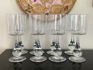 Baccarat Crystal Jose Claret Wine Glasses Set of 8 Designed by Boris Tabacoff