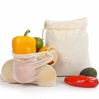 Fruit Mesh Bags Produce Vegetable Storage Reusable Net Food Kitchen Banana Orang