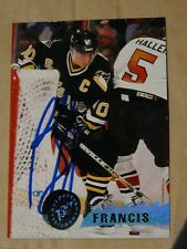 Ron Francis Pittsburgh Penguins Hockey HOF autographed card #2