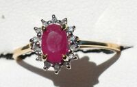 18ct Yellow Gold Ruby and Diamond ring Birmingham