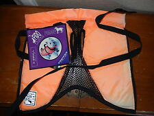 Fido float dog swimming vest bright orange size x-small