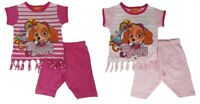 Girls Paw Patrol Top And Shorts Outfit Set Age 2,3,4,5,6 Years