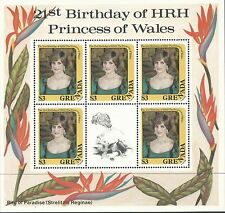 Grenada 1982 - Royalty Princess Diana 21st Birthday 3 Sheets - Sc 1101A,2A,3AMNH