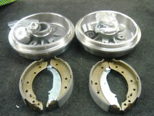 PEUGEOT 206 1.4HDI 2 REAR BRAKE DRUMS REAR BRAKE SHOES +ABS WHEEL BEARING