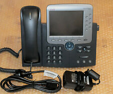 Cisco CP-7975G + CP-PWR-CUBE-3 SIP/SCCP Loaded VoIP Phone 6MthWty TaxInv CCNA