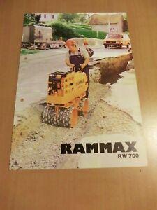 Prospekt RAMMAX RW 700 Vibrations Grabenwalze Verdichter mit Farymann Motor
