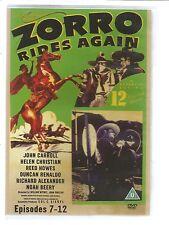 ZORRO RIDES AGAIN - EPISODES 7-12 - UK DVD - John Carroll