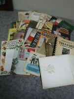 Lot of Vintage Recipe Books/Cookbooks-Local Advertising