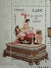 FRANCE 2015, timbre BOITES A MUSIQUE, LECON CHANT, neuf**, MNH MUSIC BOX ART