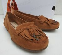 Ladies Hush Puppies NAVEEN ROBYN Slip On Moccasin Loafers Shoes Tan Brown New