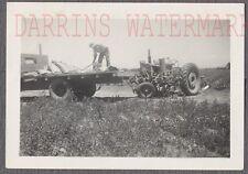 Vintage Photo Working Man w/Unusual Tractor & Farming Equipment 729200
