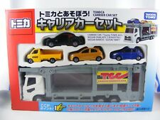 Autotransporter m. 4 Fahrzeugen Nissan, Suzuki, Toyota, von Takara Tomy Tomica