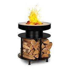Chiminea Pequeño//Grande Acero Carbón al aire libre calentador de fuego para terraza Pit Negro Y Dorado