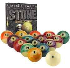 ARAMITH BELGIAN STONE POOL BALL SET, REALLY NEAT! FREE US SHIPPING