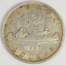 1937 $1 Dollar Canadian Silver Dollar Coin