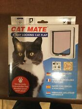 """Cat Mate 4-Way Locking Cat Flap 7.625""""W x 7.875""""H NEW SEALED NEVER USED"""