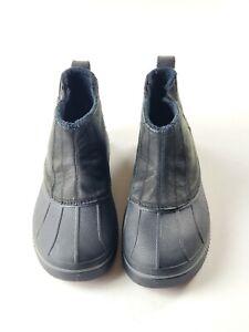 CROCS AllCast Waterproof Black Men's Pull-On Duck Boots 12775 Size 10 M