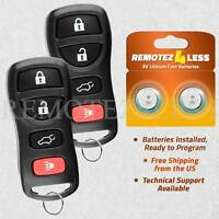 2 for 2004 2005 2006 2007 2008 2009 Nissan Quest Keyless Entry Remote Key Fob