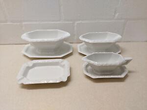 Rosenthal Porzellan Maria weiß 5-tlg Set Sauciere; Platen / Teller