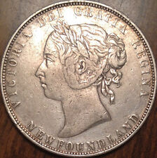 1899 NFLD NEWFOUNDLAND SILVER 50 FIFTY CENTS IN GREAT CONDITION - CLEANED