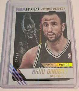 2014-15 NBA Hoops Manu Ginobili Picture Perfect Artists Proof Insert/99 SA Spurs