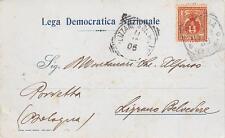 3412) BOLOGNA, LEGA DEMOCRATICA NAZIONALE AUTOGRAFO FOSCHINI DA RAVENNA.