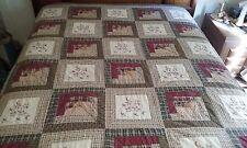 Vintage Cross-Stitch Quilt, Queen Size