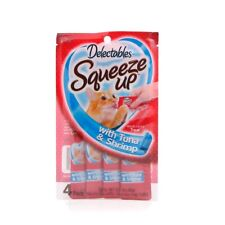 Hartz Delectables Squeeze Up Cat Treat, 1 Pouch, 4 tubes, Tuna Flavor