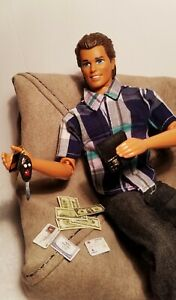Barbie/Ken Wallet, Money, Driver's License, Car key fob for 1/6 scale dolls