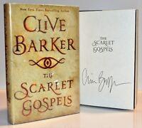 SIGNED The Scarlet Gospels AUTOGRAPHED by Clive Barker (Infernal Parade) NEW 1/1