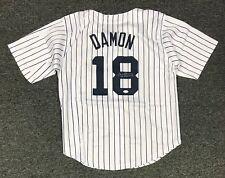 Johnny Damon #18 Signed Yankees Jersey Autographed Sz XL JSA WITNESSED COA